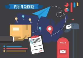 Illustration Vecteur De Service Postal