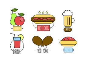 Vector Set Fast Food Meals