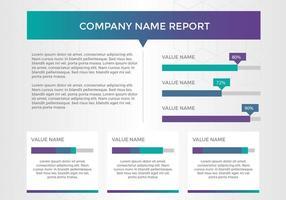 Freier Geschäftsbericht Vektorpräsentation 11