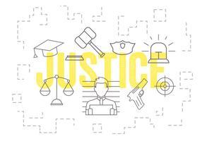 Ensemble vectoriel d'icônes de justice