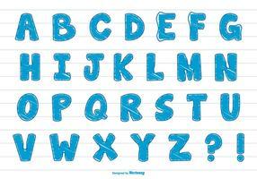 Nettes Gekritzel-Art-Alphabet-Set