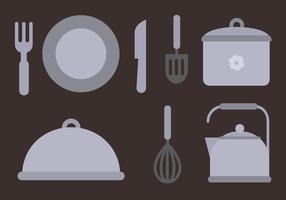 Vector de elementos de cocina gratis