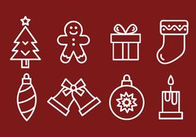 Iconos de Navidad gratis Vector