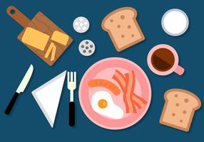 Kostenloses Frühstück Vektor