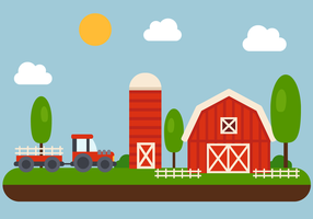 Vector de granja gratis