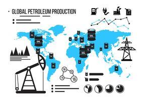 Infografia do vetor de campo petrolífero