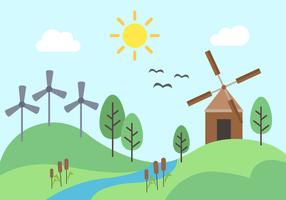 Vetor livre de energia verde