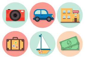Gratis Travel Elements Vector