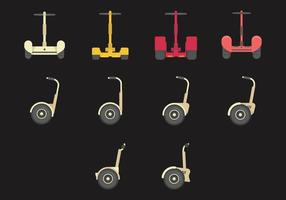 Segway flache Icon-Set
