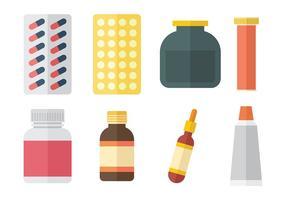 Libere los iconos del vector de la medicina