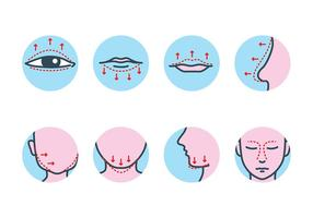PLASTIC SURGERY ICON VECTOR