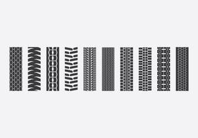 Tractor Tire Icon Set