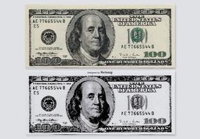Hundred Dollar Vector Bills