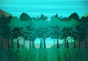 Mangrove Illustration Vector