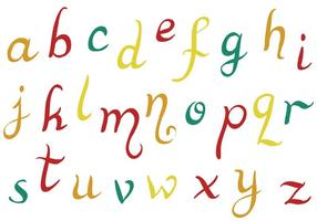 Gratis alfabetvektorer