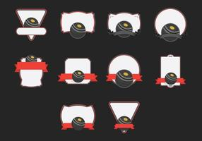 Gazon schalen sjabloon icon set
