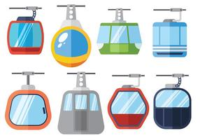 Free cable car icons vector