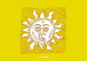 SUNSHINE-LINE DRAWING vector