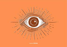 EYE BALL - LINE DRAWING vector
