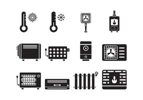 Heating and Cooling Icons vector