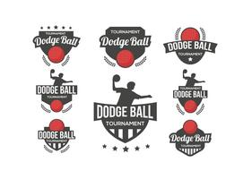 Dodge Ball Logo Vector