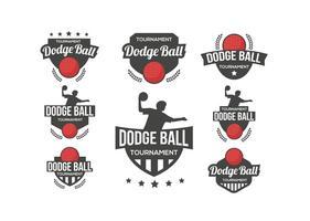 Dodge Ball Logo Vector