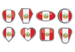 Libere los iconos de la bandera de Perú vector