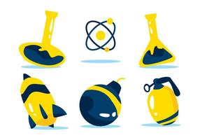set vettoriale di atomium