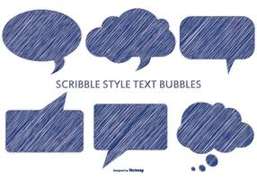 Pen Scribble Style Text Bubbles vector