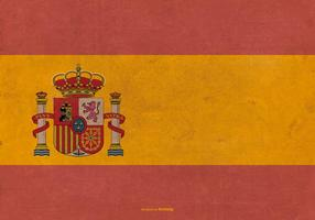 Drapeau grunge de l'Espagne