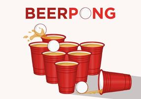 Let's Play Beer Pong! vector