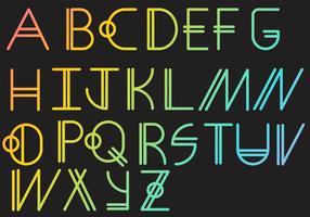 Letras - Geometrisches Set