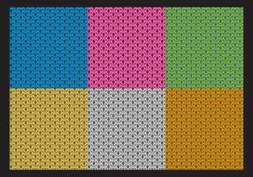 Colorful Chainmail Patterns vector