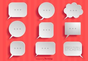 Vector Collection Of Simple Paper Speech Bubbles