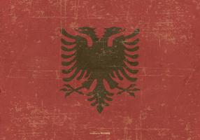 Grunge Style Flag of Albania vector