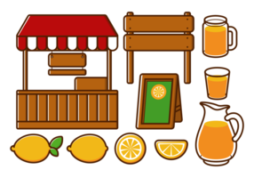 Limonada Stand Vectores