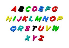 Vetor de letras grátis