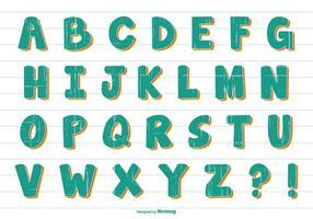 Fun Comic Style Vector Alfabet