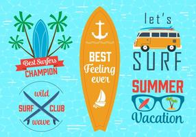 Free Vector Surfing Graphics e Emblems