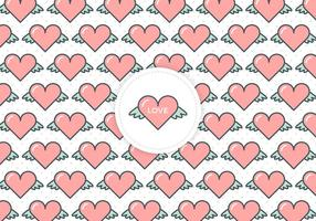 Gratis Flying Hearts Love Vector Bakgrund