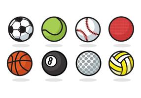 Iconos libres de la bola del deporte vector