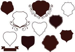 Free Vintage Shields Vektoren