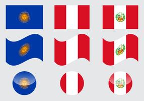 Vecteur libre de drapeau de Pérou