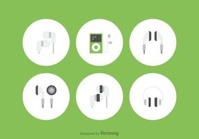 Ear Buds Vector Icons