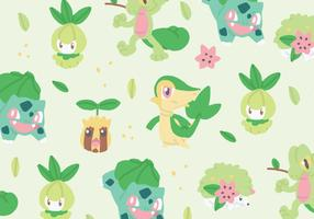Grass Type Pokemon Pattern
