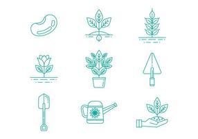 Gardening Line Icons Vector