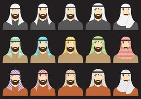Types Of Keffiyeh vector