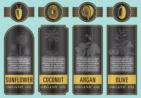 Organic Oil Labels vector