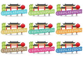 Chinatown Titles vector