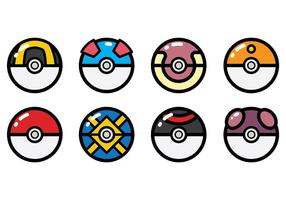 Livre Pokemon Icons Vector